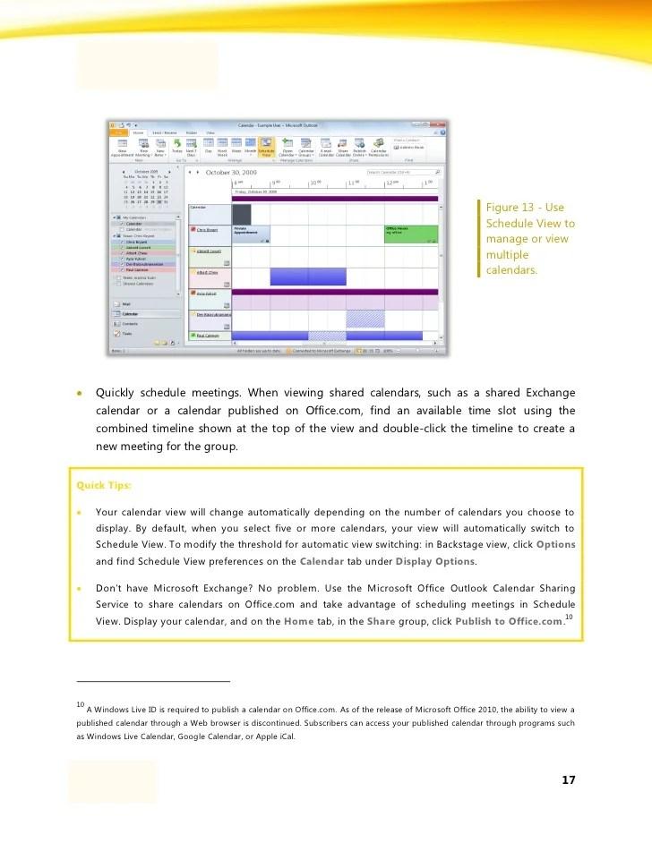 Outlook 2010 How To Create A Team Calendar Microsoft Outlook Wikipedia Courseware Microsoft Outlook 2010