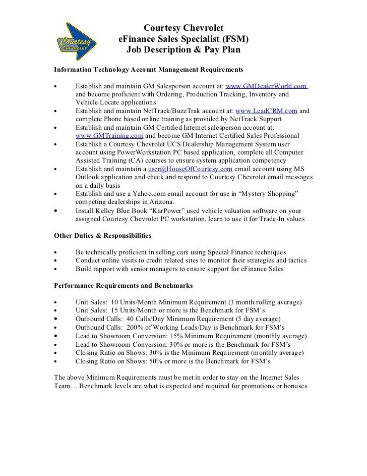 Job Description Account Finance Manager – Financial Manager Job Description