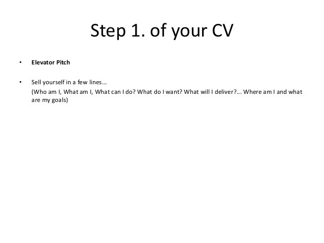 cv anglais pitch example
