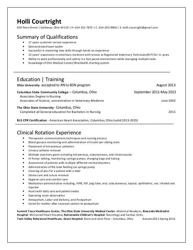 Veterinary Technician Job Description For Resume Home Occupational Outlook Handbook Us Bureau Of Courtright Holli Rn Resume 5 27 13