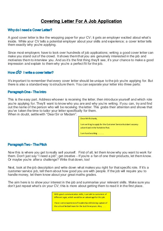 covering letter tips