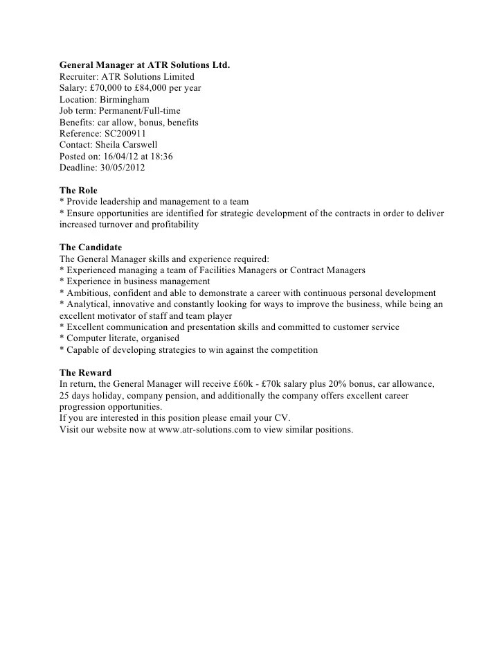 Contracts Manager Cover Letter Sample Cover Letter