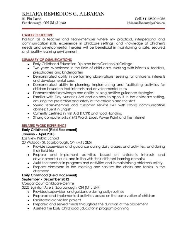 developmental educator resume