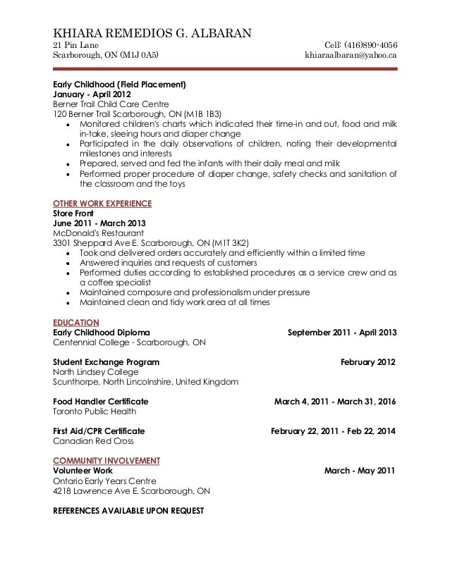 Resume Nanny | Best Cover Letter For Job Application Pdf