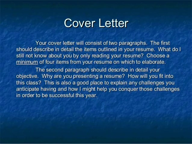 what does a cover letter for a resume consist of - Zorayayodhya