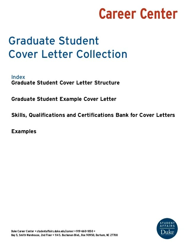 Cover Letter Graduate Student Neco Inc 3d Engineering Technology Prototyping Career Centerduke Center O Studentaffairsdukeeducareer