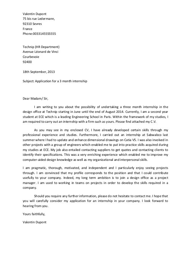 sample cover letters marketing