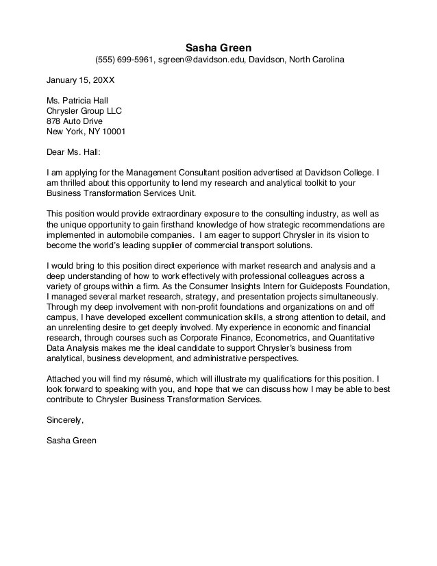 Thank You Letter For Promotion Or Pay Rise Davidson College Cover Letter Guide