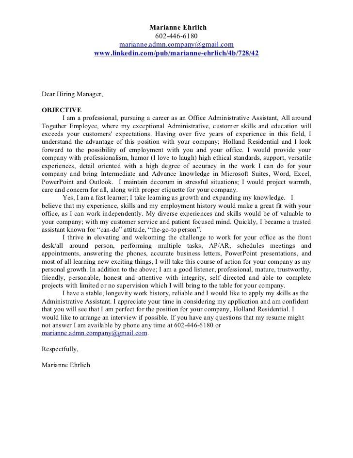 career objective resume cover letter