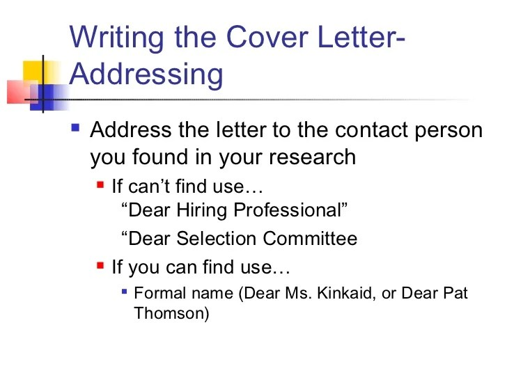 dear hiring committee cover letter