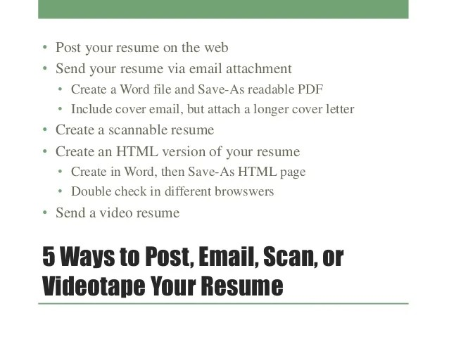 sending your resume via email radiovkm