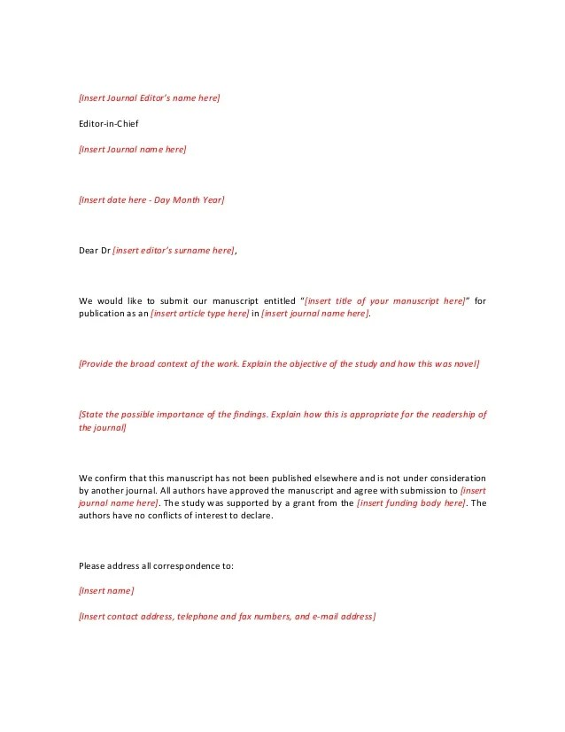 Cover Letter For Peer Review Article Cover Letter Template Shortandextebded For Journal Editor