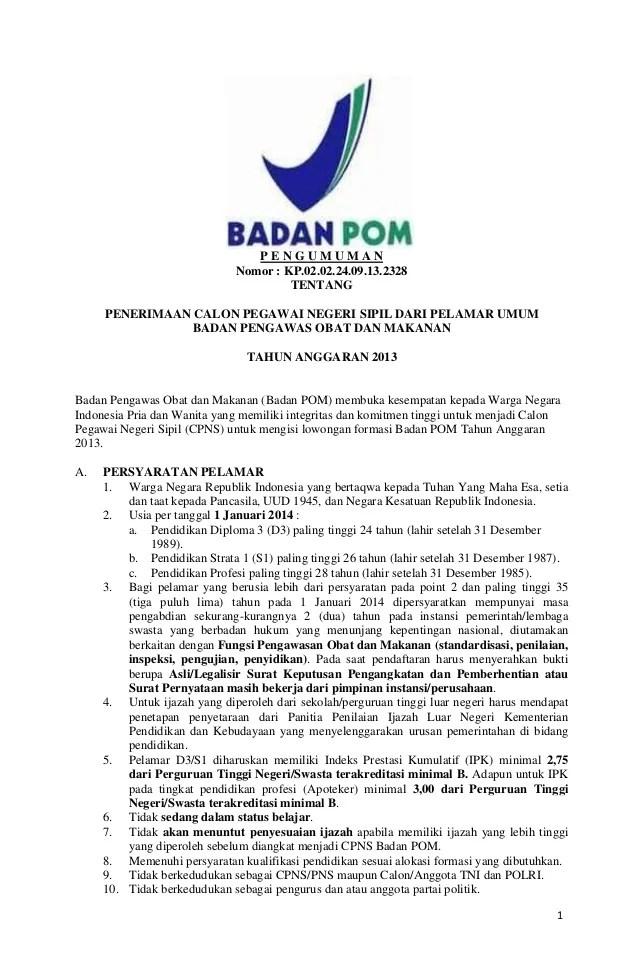 Cpns Kab Purbalingga 2013 Info Lowongan Cpns 2016 Terbaru Honorer K2 Terbaru Agustus Cpns Badan Pom 2013