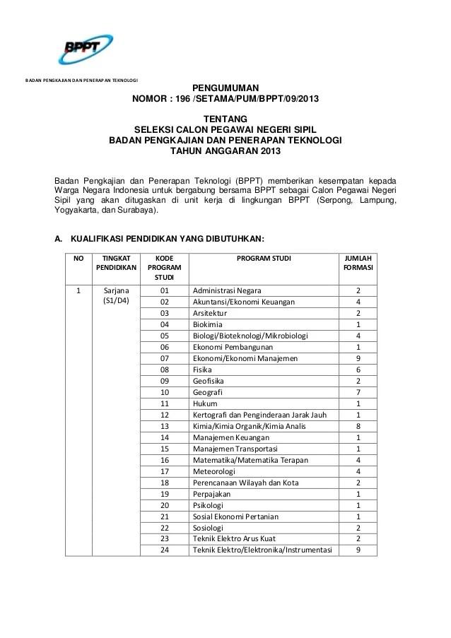 Cpnsd Ponorogo 2013 Lowongan Kerja Pt Pertamina Persero Cilacap Terbaru Pengumumannomor 196 Setamapumbppt092013tentangseleksi Calon