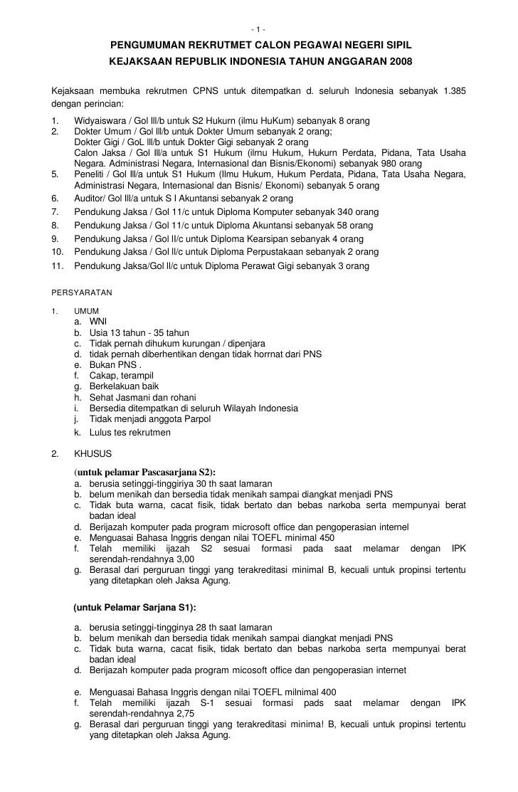 Pendaftaran Cpns Surabaya 2013 Lowongan Cpns Bnn Badan Narkotika Nasional Terbaru Cpns Kejaksaan 2008