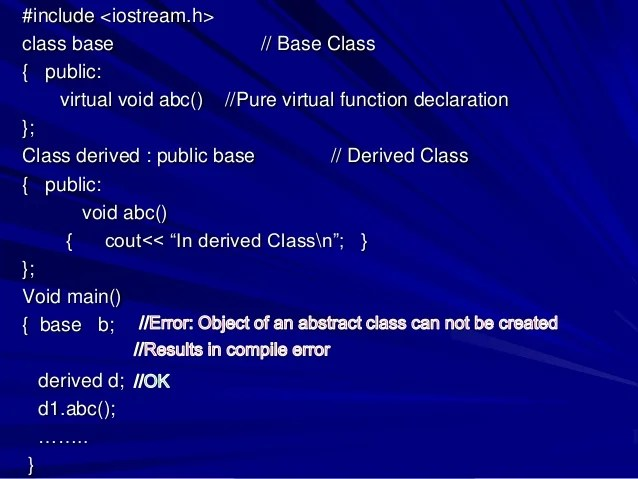 abstract base class
