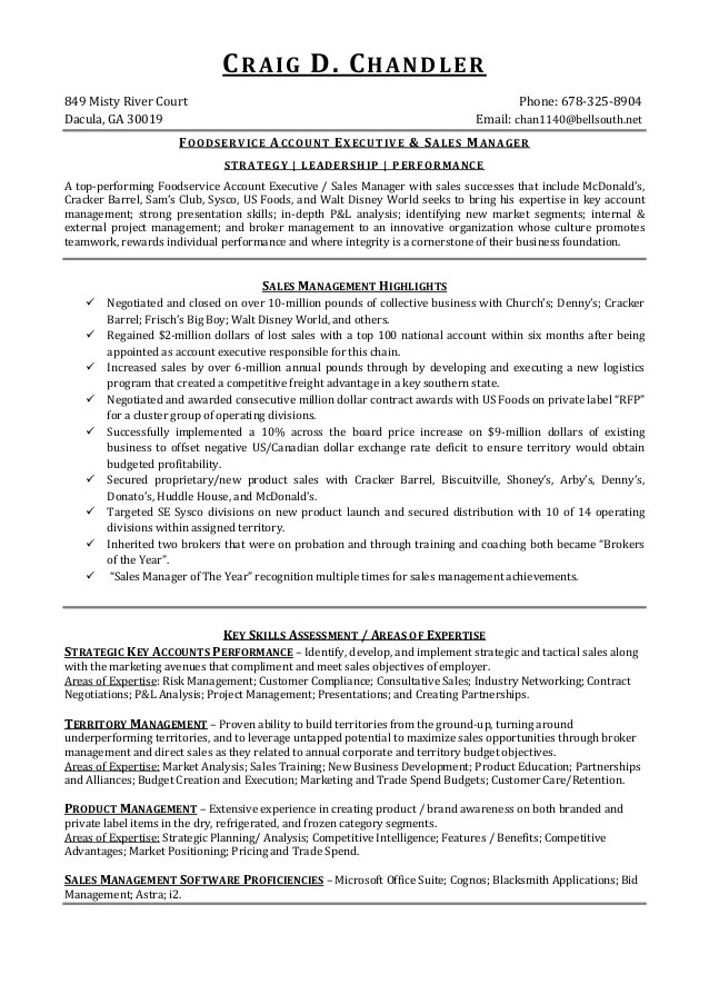 food sales resumes - Ozilalmanoof - food broker sample resume