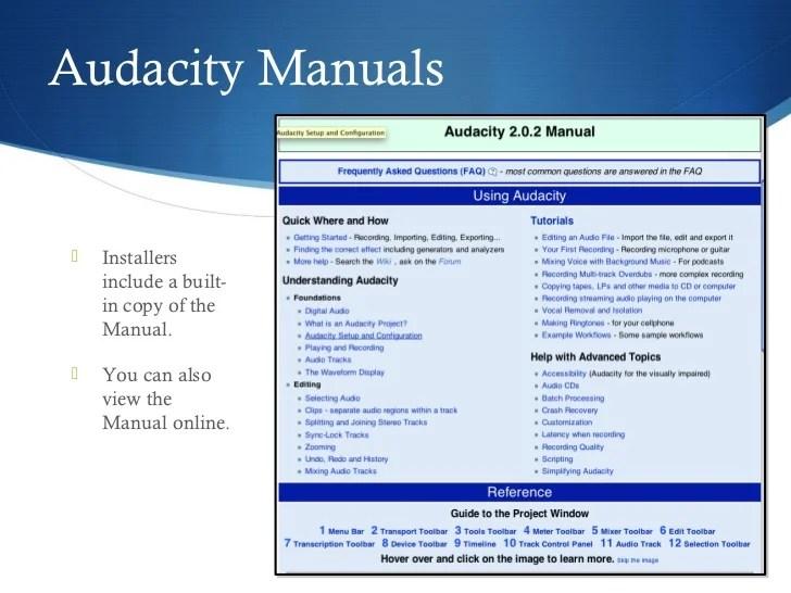 audacity manuals