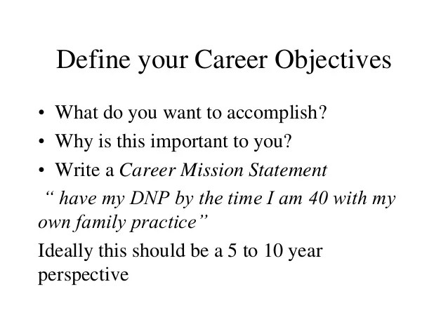 your career objective - Onwebioinnovate - what are my career objectives