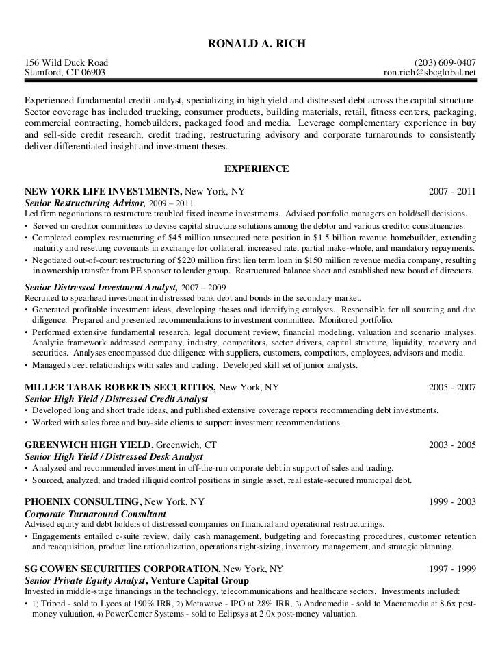 sample resume business analyst capital market professional