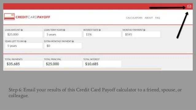 credit card amortization calculator - Eczasolinf - credit card payoff calculator