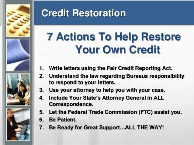 Credit education & dispute assistance nhsillc presentation