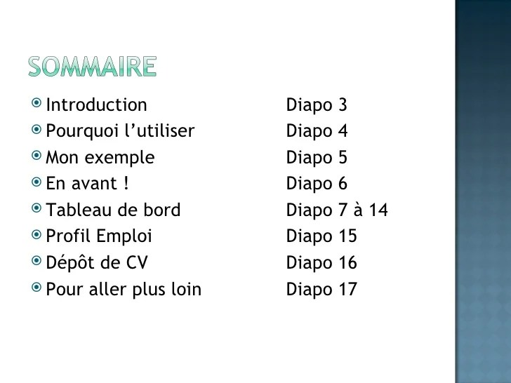 diapo cv exemple
