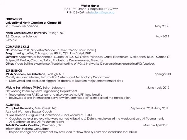 computer science resume - Goalgoodwinmetals - science resume example