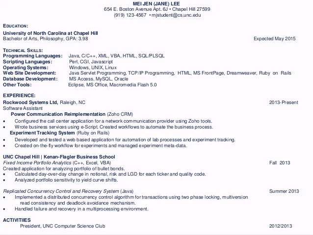 sample cv with gpa diamond geo engineering services - Sample Resume Showing Gpa