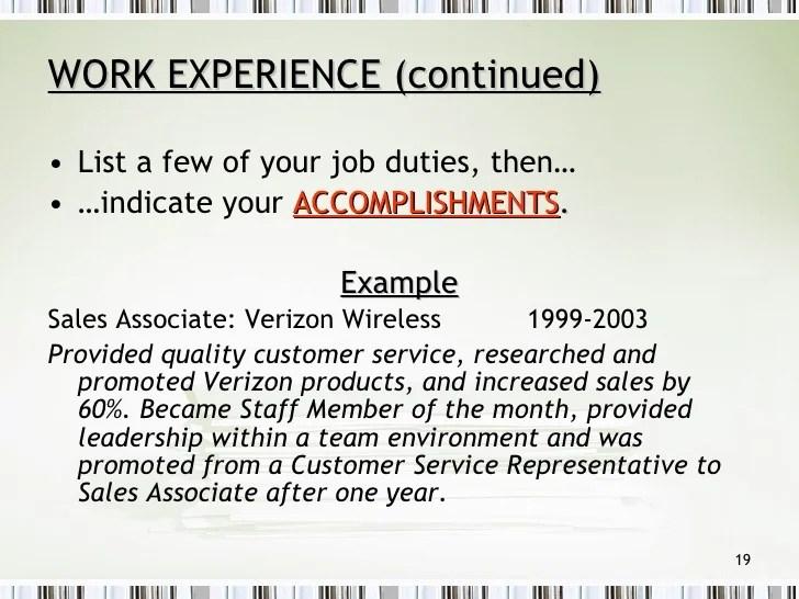 resume service verizon