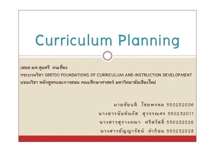 Curriculum Planning Related Keywords Curriculum Planning