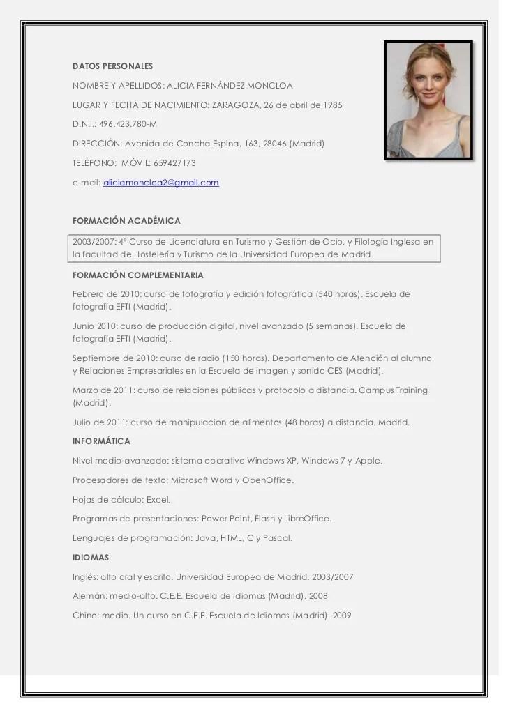 Ejemplo de curriculum vitae peru 2012. localeyez.co.uk