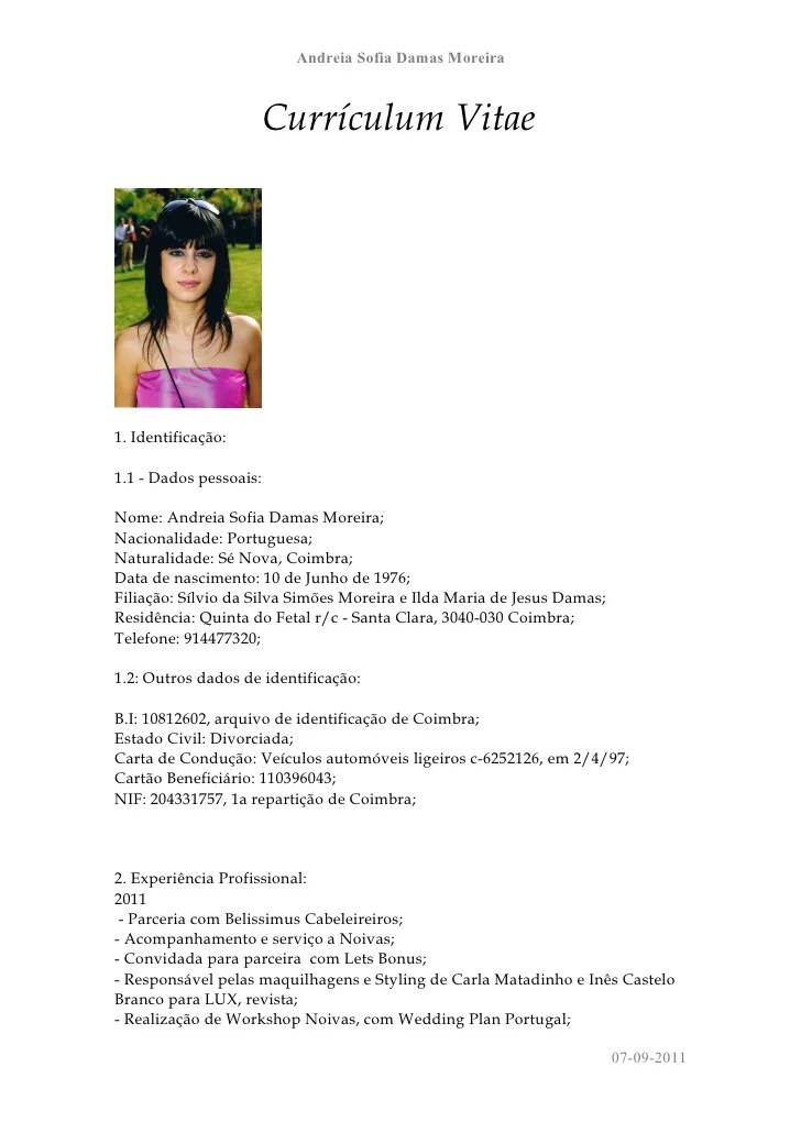 Curriculum Vitae Europeo Doc In Inglese Cover Letter Samples