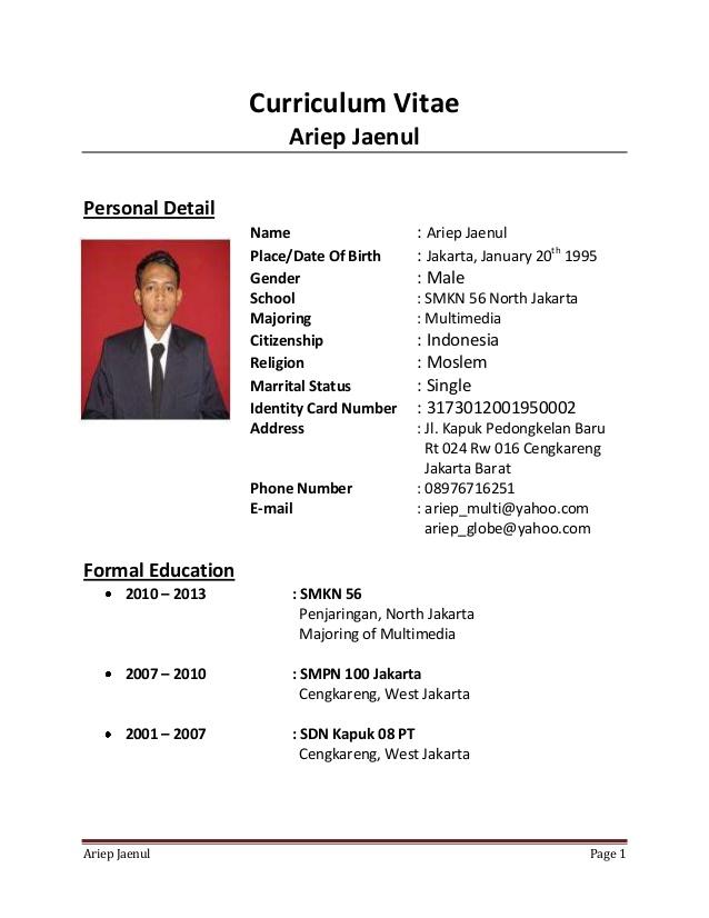 Contoh Resume Kosong Pdf Ebook Database