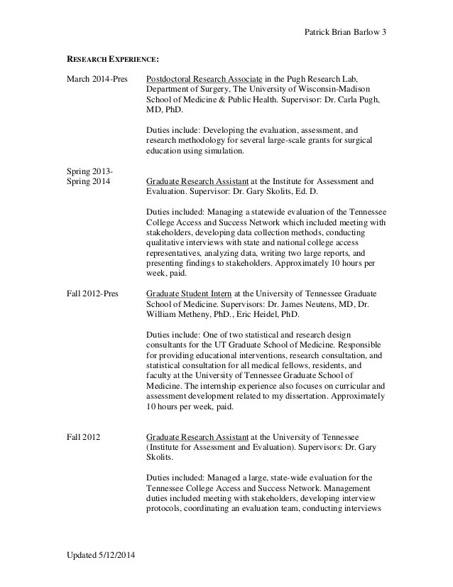 Cv Format Research Scientist – Research Scientist Cover Letter