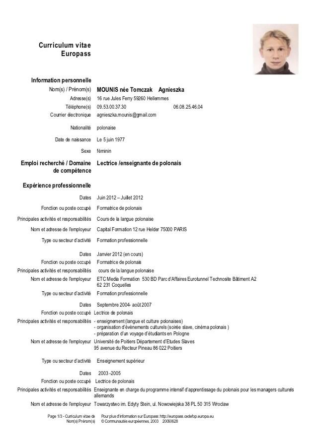 cv formateur informatique bureautique