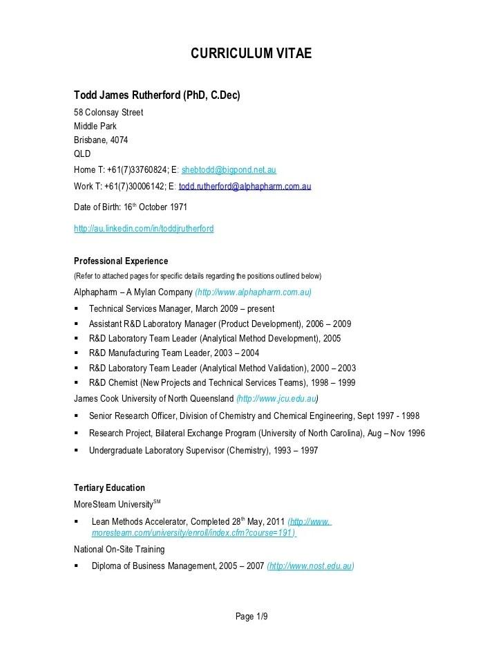 Curriculum Vitae Wikipedia Curriculum Vitae Current
