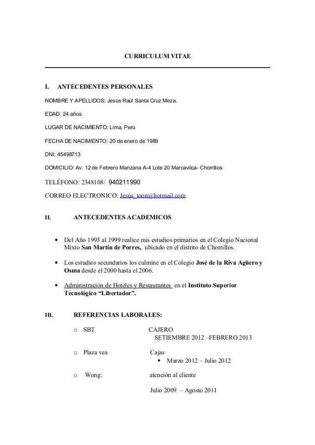 format cv libre office