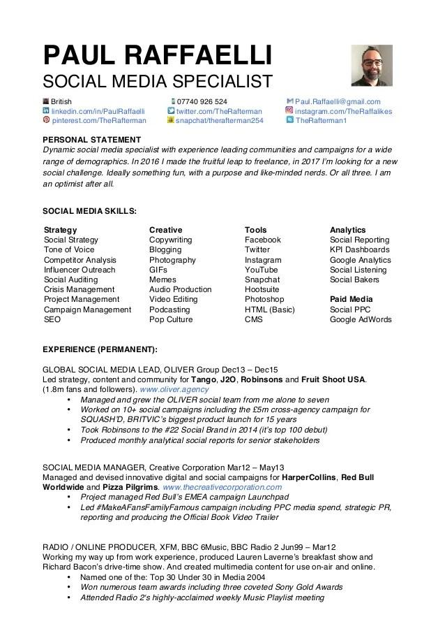 cv social media - Funfpandroid - multimedia specialist sample resume