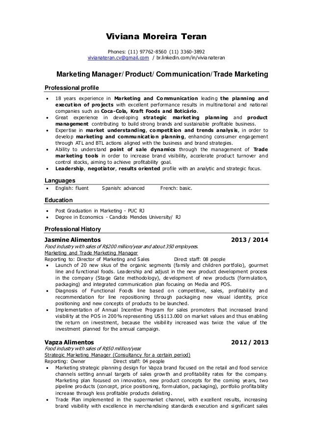 product marketing resumes - Boatjeremyeaton - marketing manager resume sample
