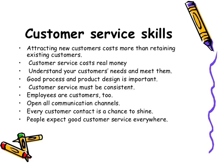 define great customer service skills