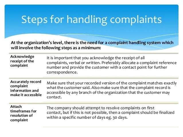 Complaint Handling Letter Sample Free Resume Samples