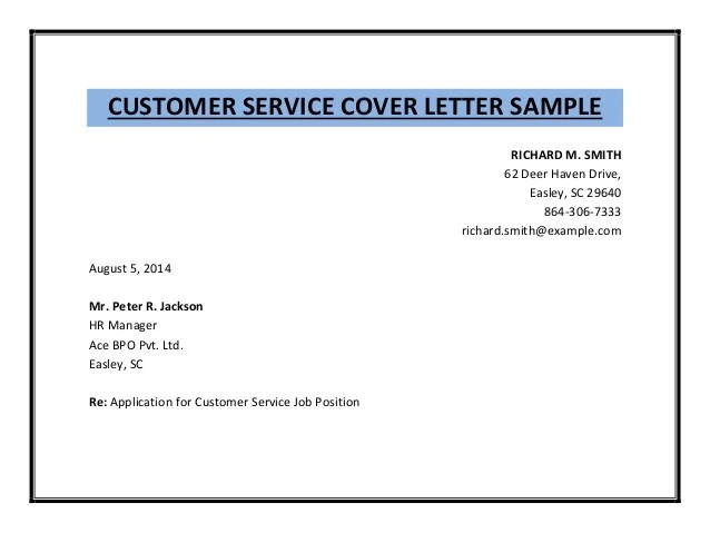 Customer Service Representative Resume Sample Customer Service Cover Letter Sample Pdf