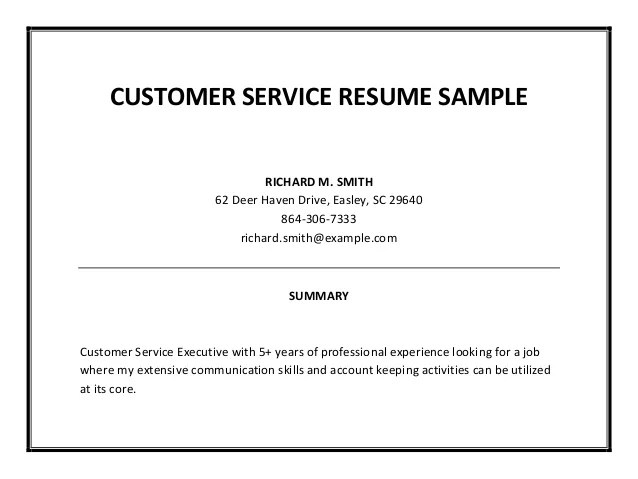 sample customer service resumes banking customer service sample