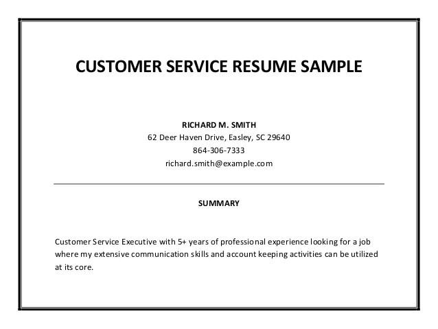 Bank Customer Service Representative Resume  Customer Service Resume Summary
