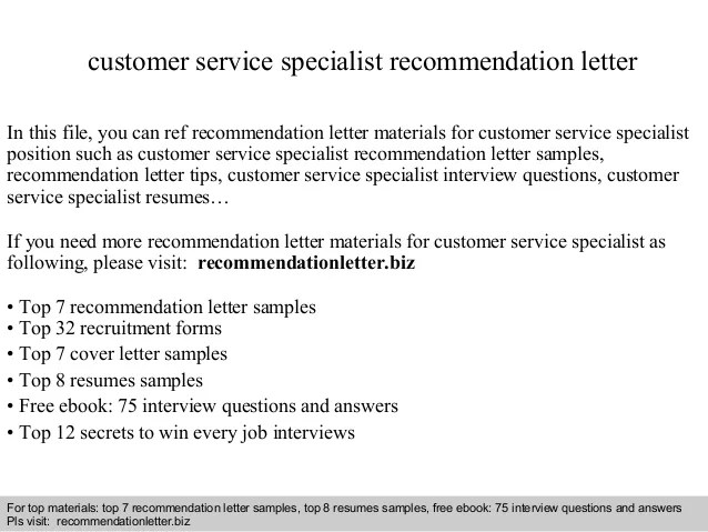 customer service reference letter - Ozilalmanoof