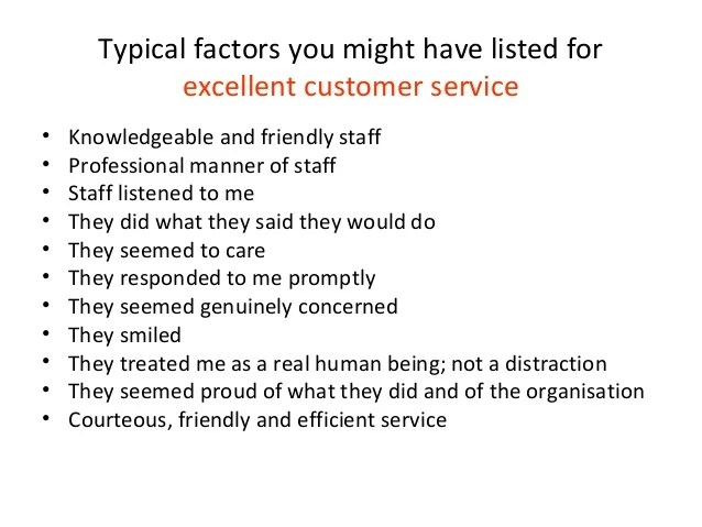 how do u define excellent customer service - Eczasolinf