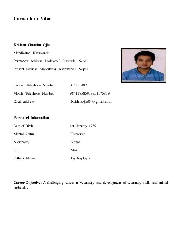 Receptionist Sample Resume Cvtips My Biodata
