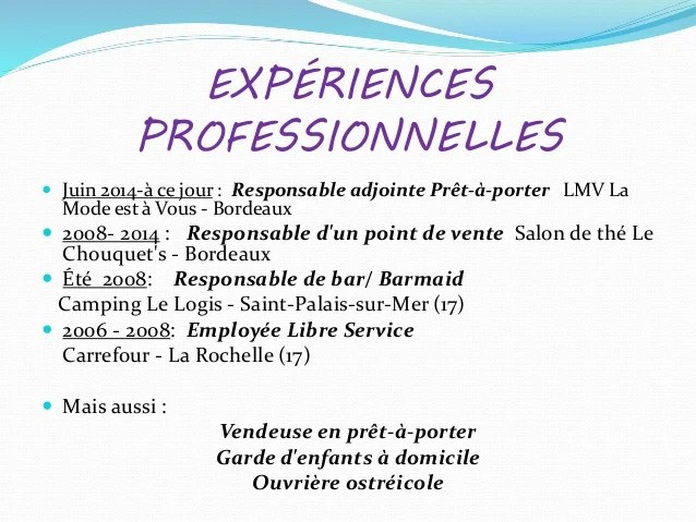cv competences adjointe administrative
