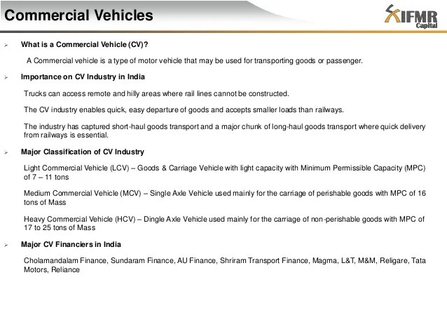 cv commercial vehicle